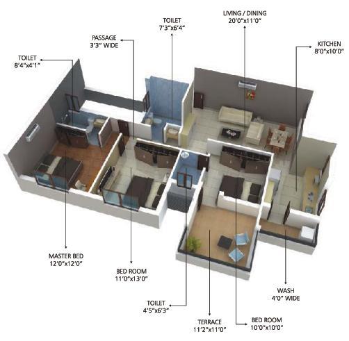 Nanis Vedant Diamond, Nagpur - Floor Plan