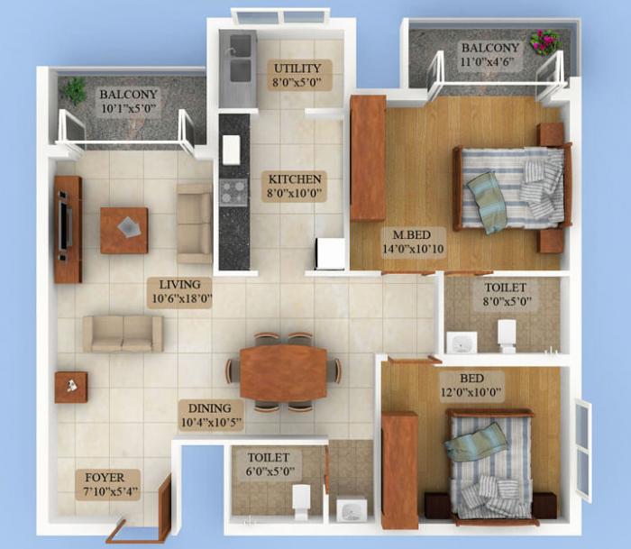Citadel Woodville, Mangalore - Floor Plan