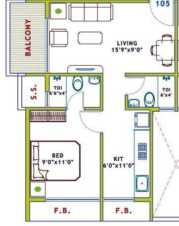 Blue Key Escalate, NaviMumbai - Floor Plan