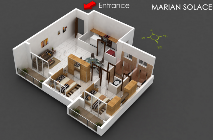 Marian Solace, Mangalore - Floor Plan