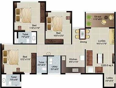 Parksyde Homes, Nashik - Floor Plan
