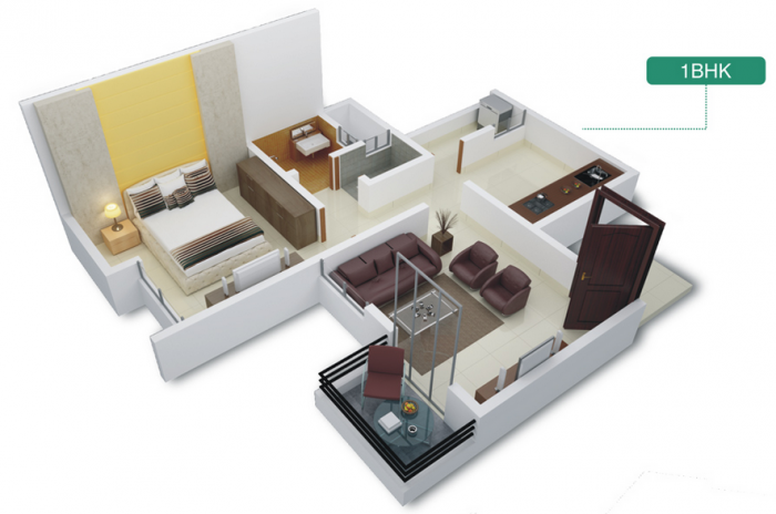New Front Trademark Life, Pune - Floor Plan