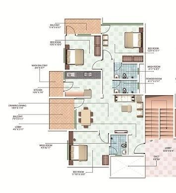 Radha Madhav Vrindavan Apartment, Nagpur - Floor Plan