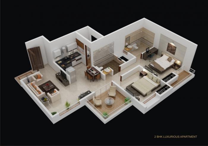 Gagan MiCasaa Wagholi, Pune - Floor Plan