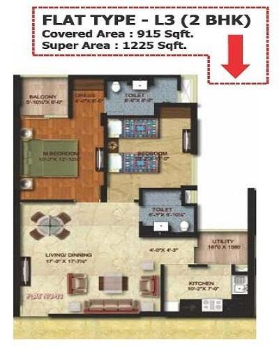 MI Riviera Residency Phase II, Lucknow - Floor Plan