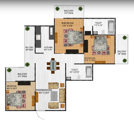 NCR Auriel Towne, GreaterNoida - Floor Plan