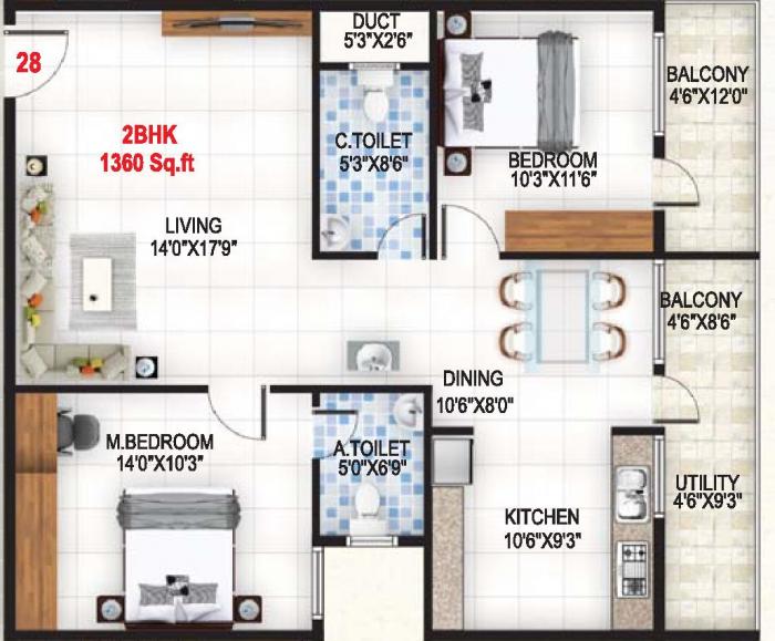 Baldota Serenity, Bangalore - Floor Plan