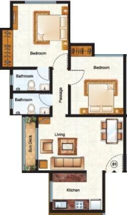 Raunak Unnathi Woods Phase 6, Thane - Floor Plan