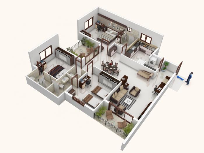 Mohtisham Fern Hill, Mangalore - Floor Plan