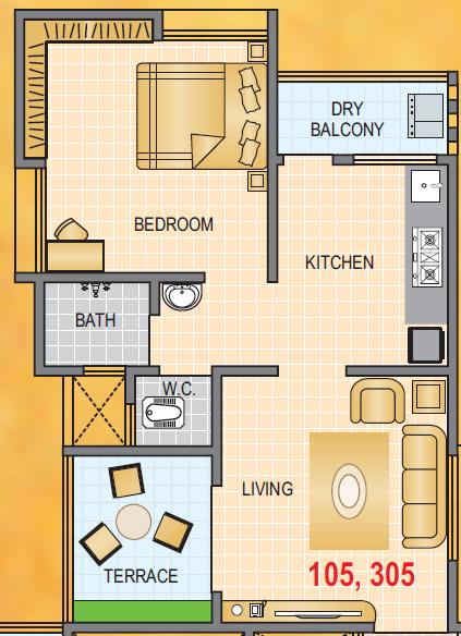 Arun Anika Enclave, Pune - Floor Plan