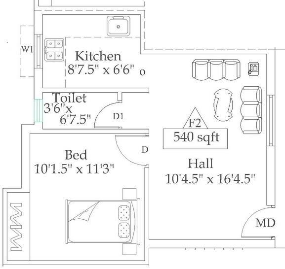 Mahayogam Dhana Bhakiyam Phase III, Chennai - Floor Plan