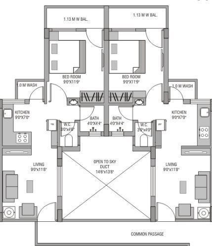Revati Royal Gayatri Park 2, Nagpur - Floor Plan