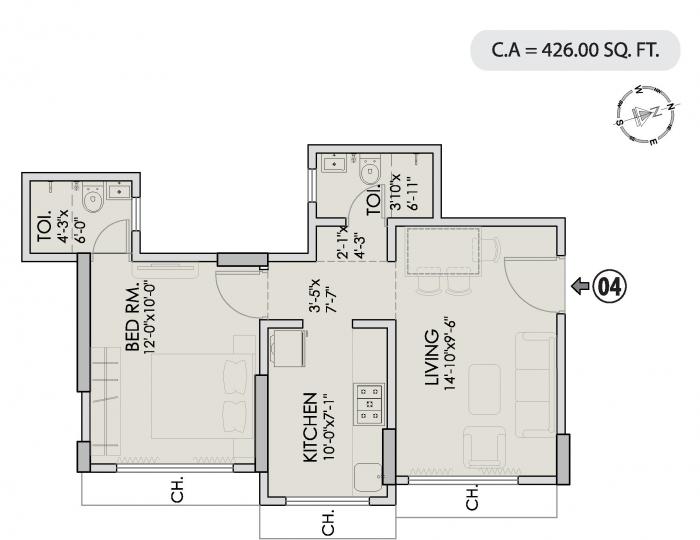 Neelyog Veydaanta, Mumbai - Floor Plan