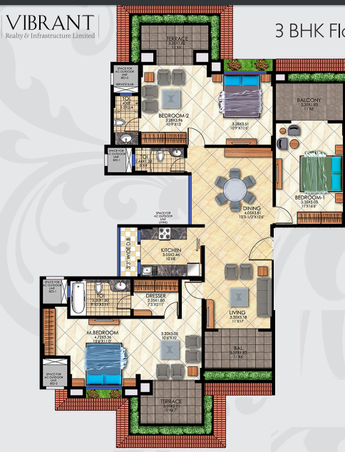 Casa Vibrante, Pune - Floor Plan