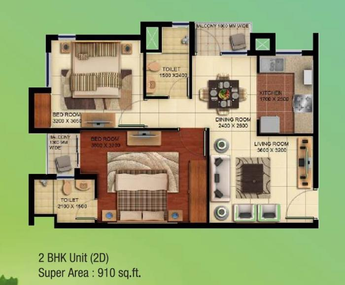 Paarth Republic Humming State, Lucknow - Floor Plan