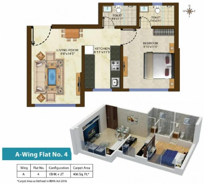 Aditya Samarth Tanish, Mumbai - Floor Plan