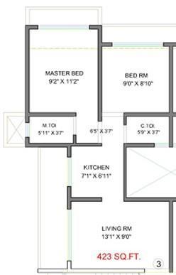Aditya Siddharth CHS LTD, Mumbai - Floor Plan