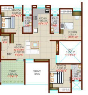 Ravetkar Sukhniwas, Pune - Floor Plan