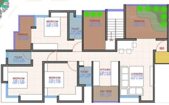 Ravetkar Piyusha, Pune - Floor Plan