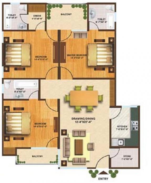 Aditya Kaanha Residency, Lucknow - Floor Plan