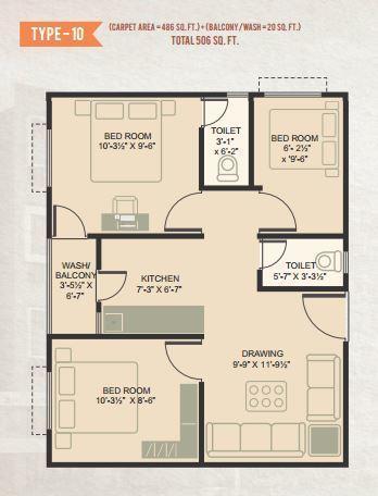 Om Shanti Gold Plus, Ahmedabad - Floor Plan