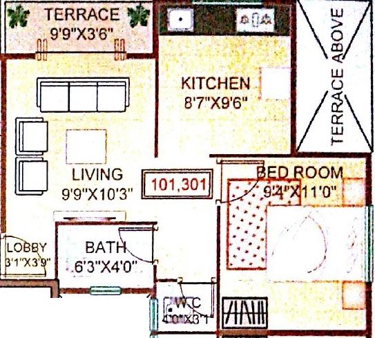 Amogh Residency, Pune - Floor Plan