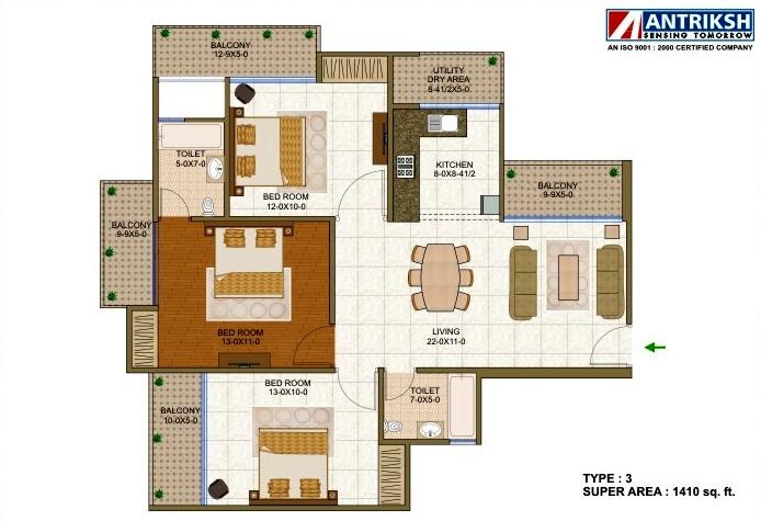 Antriksh Forest, Noida - Floor Plan