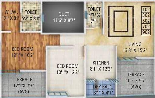 Karma Grandeza, Pune - Floor Plan