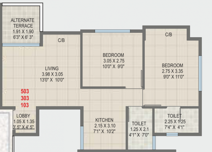 Roongta Horizon, Nashik - Floor Plan