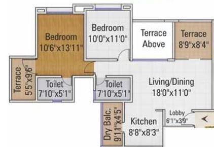 Kumar Palm Meadows, Pune - Floor Plan