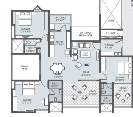 Pate Seya, Pune - Floor Plan