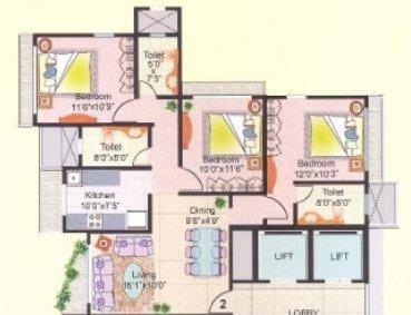 Heena Gokul Namiella, Mumbai - Floor Plan
