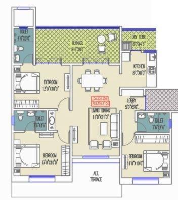 Mittal Sun Exotica, Pune - Floor Plan