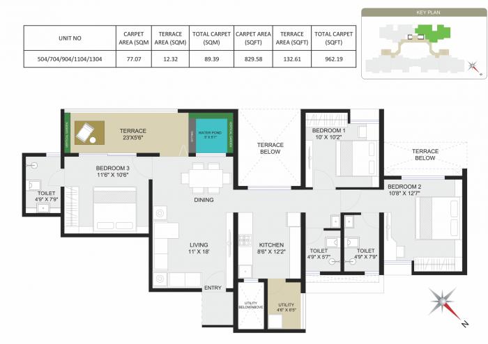Axis Vertiga , Pune - Floor Plan