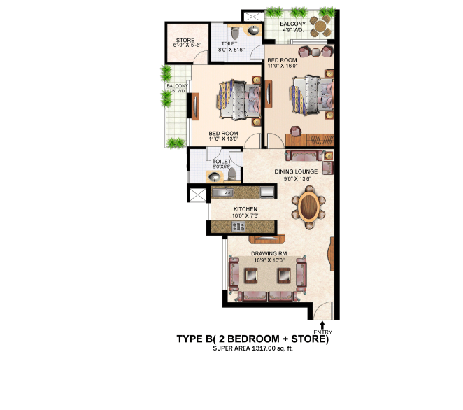 Gurukripa Indraprastha Grand, Lucknow - Floor Plan