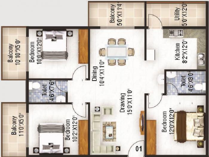 Ruchira Lilium, Bangalore - Floor Plan