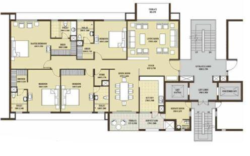 Rohtas Presidential Tower, Lucknow - Floor Plan