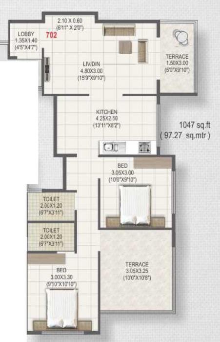 Roongta Township Phase IV, Nashik - Floor Plan
