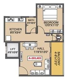 Nexus Glorious , Pune - Floor Plan
