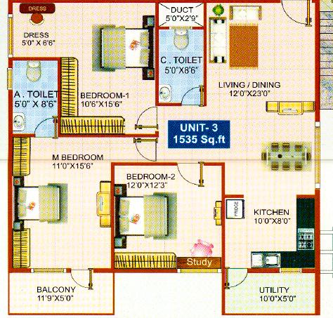 Mega Rajarajeshwari Bliss, Bangalore - Floor Plan