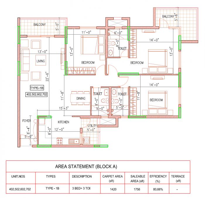 Ramky One North Phase 3, Bangalore - Floor Plan