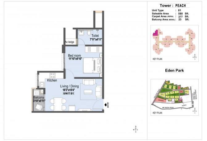 L&T Eden Park, Chennai - Floor Plan