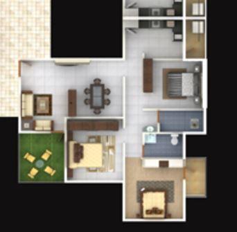 Shree Gajanan Orchid, Nagpur - Floor Plan