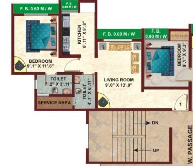 Kavya Park, Thane - Floor Plan