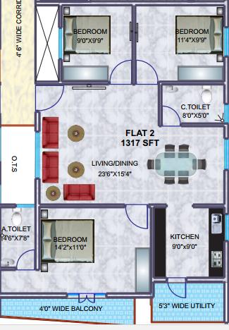 BSR Royal Enclave, Bangalore - Floor Plan
