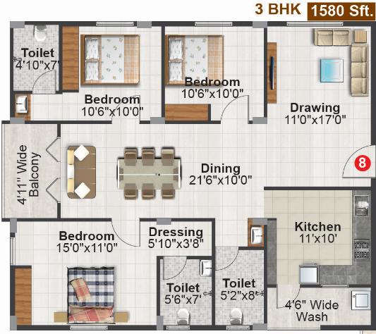 CBR Aakruthi, Bangalore - Floor Plan