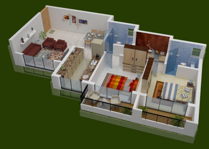 Usha Kiran Residency, Thane - Floor Plan