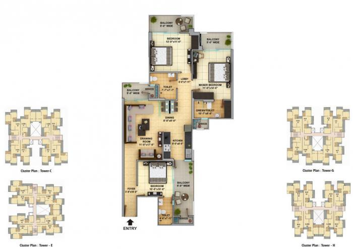 Gaur Cascades, Ghaziabad - Floor Plan