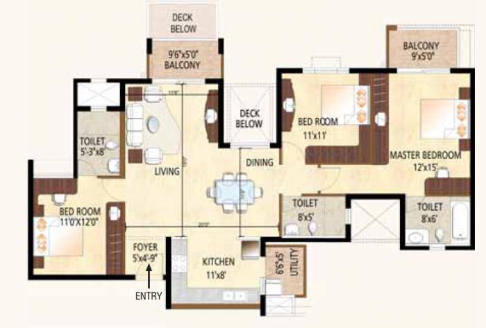 Purva Highland, Bangalore - Floor Plan