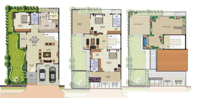Purva The Sound Of Water, Bangalore - Floor Plan